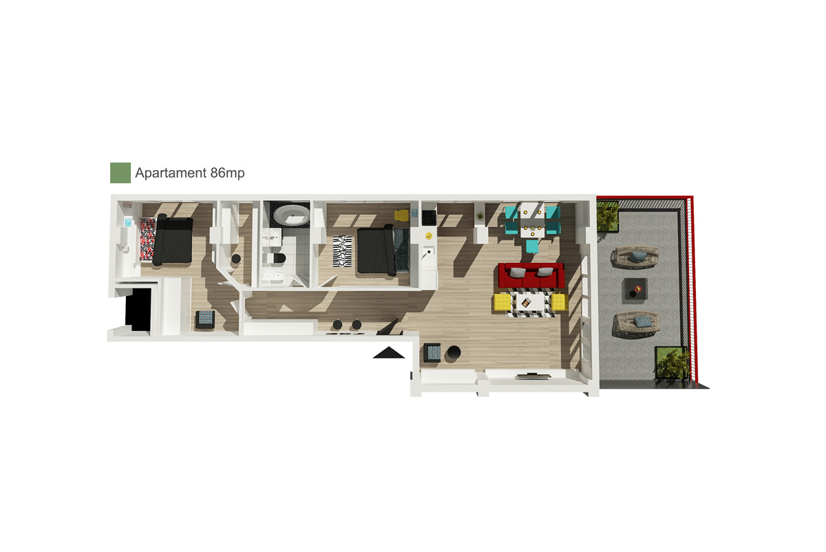 Apartament 86 mp